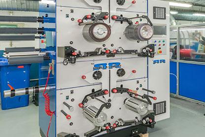 Máquina Fustier para la fabricación de spools u ovillos de la cintas adhesivas 3M de largo metraje