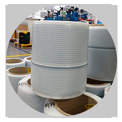 Ovillos de cintas adhesivas finas 3M de hasta 5000 metros en continuo fabricados en Fustier