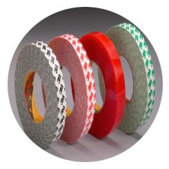 Fustier, cintas adhesivas de doble cara de bajo espesor 3M