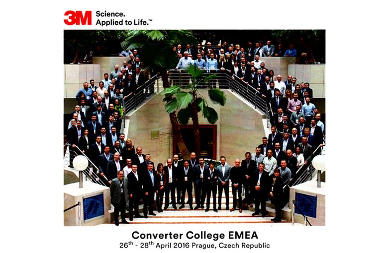 Fustier convertidor 3M invitado al congreso 3M Converter College 2016 al que acuden los principales convertidores 3M del mercado EMEA