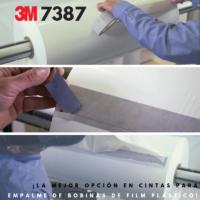 3M 8737 ¡La mejor opción en cintas para empalme de bobinas de film plástico