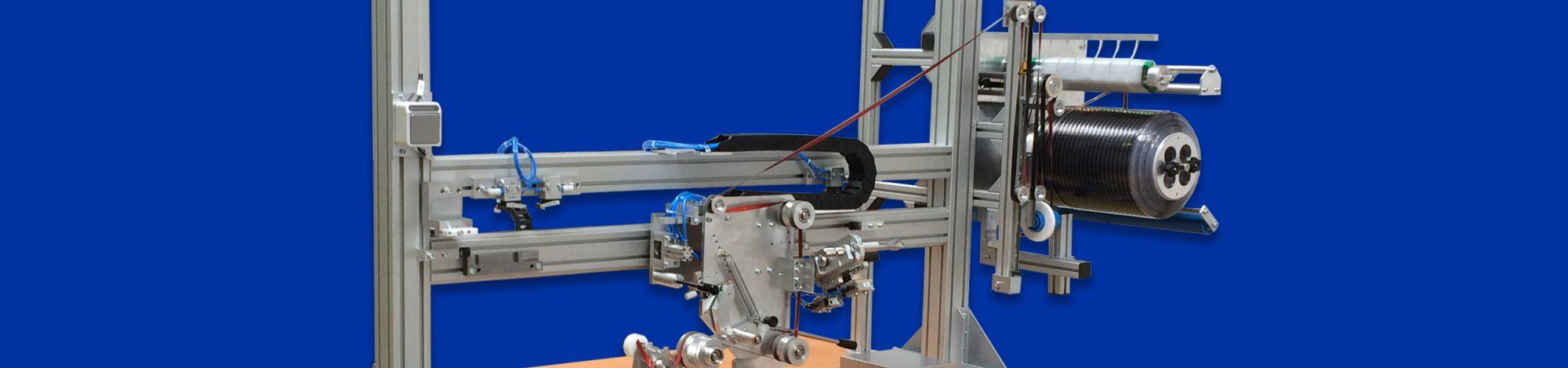 Detalle de equipo de automatización y dispensación de cintas adhesivas de Fustier 3M