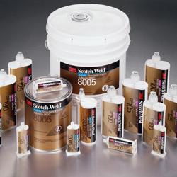 Vista de varios adhesivos estructurales 3M comercializados por Fustier Distribuidor Preferente de productos 3M