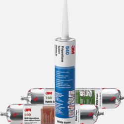Vista de varios adhesivos selladores 3M comercializados por Fustier Distribuidor Preferente de productos 3M