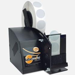 Dispensador de etiquetas adhesivas y troquelados adhesivos transparentes LD 3500 comercializado por Fustier