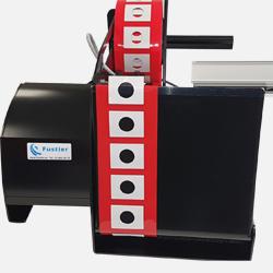 Dispensador de etiquetas adhesivas y troquelados adhesivos LD 8050 comercializado por Fustier