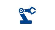 Picto que representa el servicio de proveedor de equipos de automatización para cintas y adhesivos de Fustier