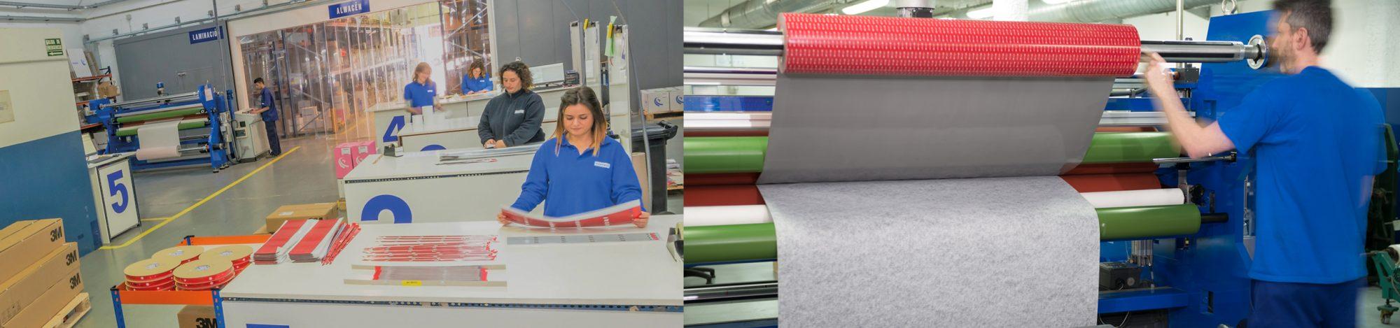 Servicio de manipulación y laminación de cintas adhesivas, etiquetas, troquelados y adhesivos líquidos 3M
