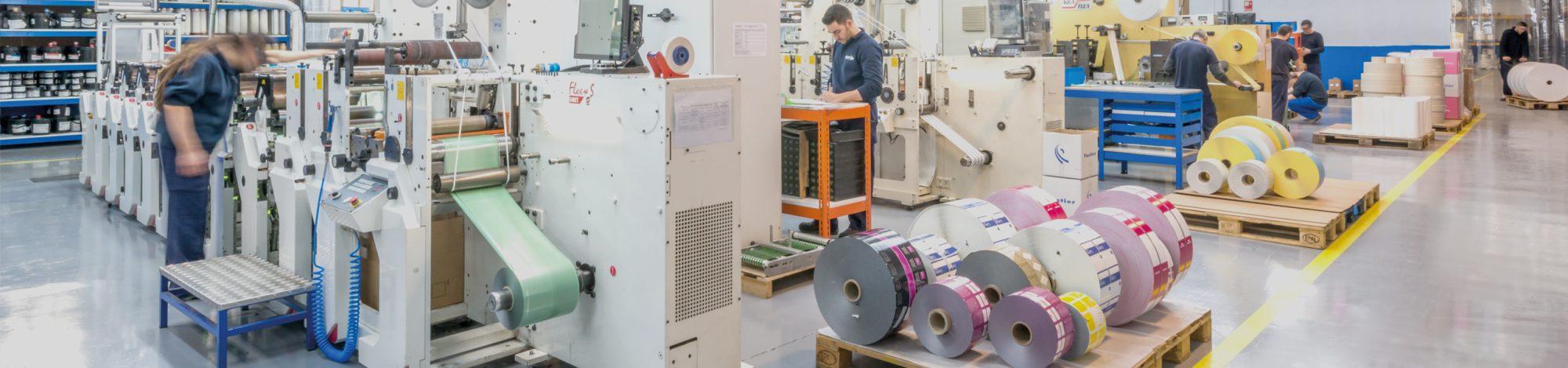 fustier fabricacion de etiquetas tecnologias máquina de flexo uv