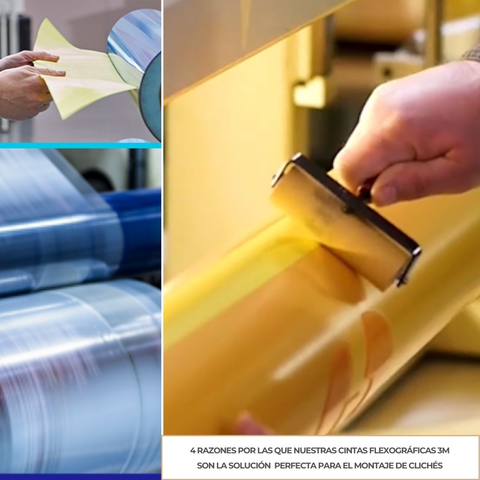 Cintas 3M para impresión Flexográfica